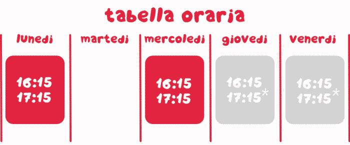 tabella oraria rodari